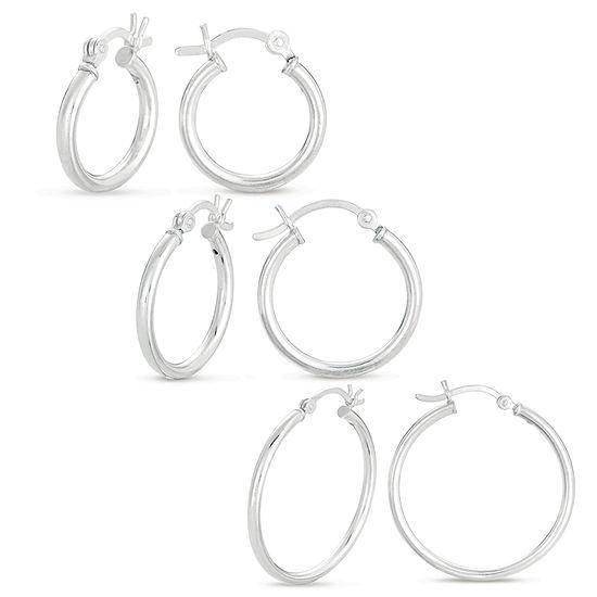 Hoop Sterling Silver Earring Set