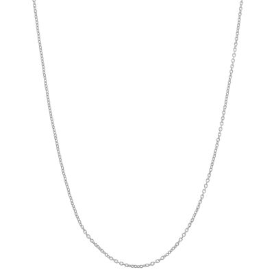 Sterling Silver Semisolid Cable 22 Inch Chain Necklace