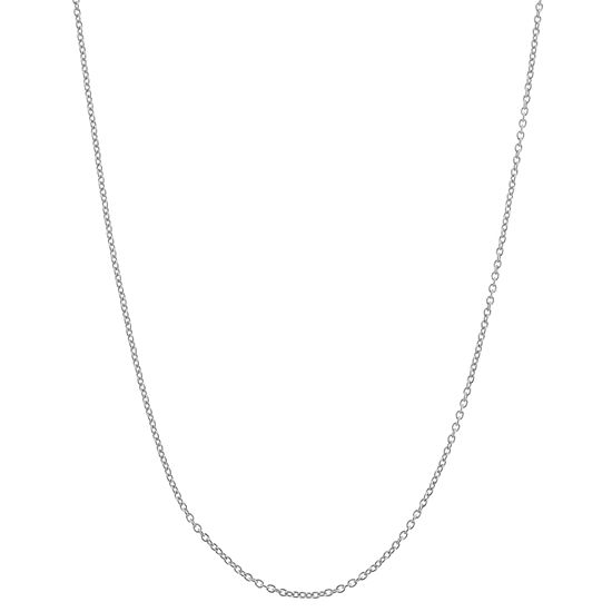 Sterling Silver 22 Inch Semisolid Cable Chain Necklace