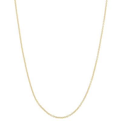 14K Gold Over Silver 22 Inch Semisolid Cable Chain Necklace