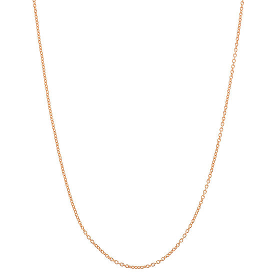 22 Inch Semisolid Cable Chain Necklace