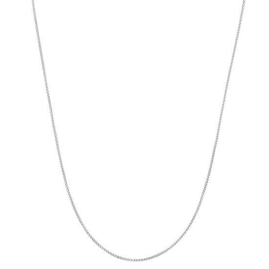 Sterling Silver 22 Inch Semisolid Box Chain Necklace