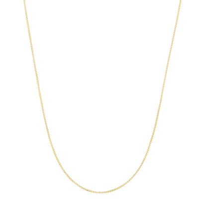 14K Gold Over Silver Semisolid Box 22 Inch Chain Necklace