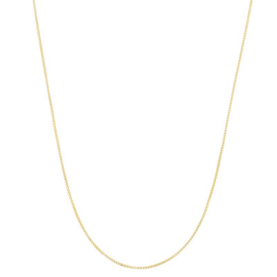 14K Gold Over Silver 22 Inch Semisolid Box Chain Necklace
