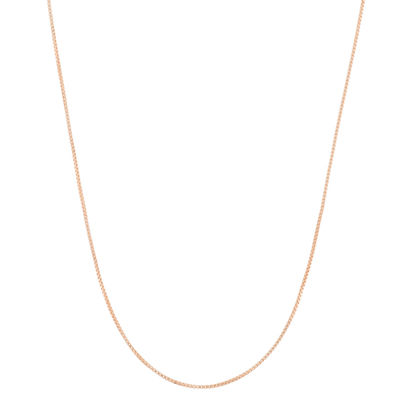 14K Gold Over Silver 23 Inch Semisolid Box Chain Necklace