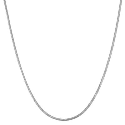 Sterling Silver Semisolid Snake 22 Inch Chain Necklace