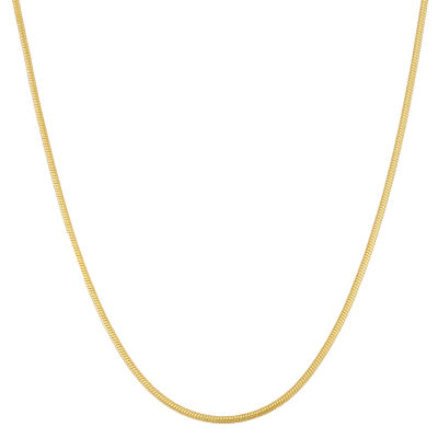 14K Gold Over Silver 22 Inch Chain Necklace