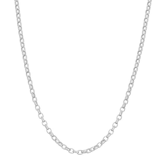 Sterling Silver 22 Inch Semisolid Chain Necklace