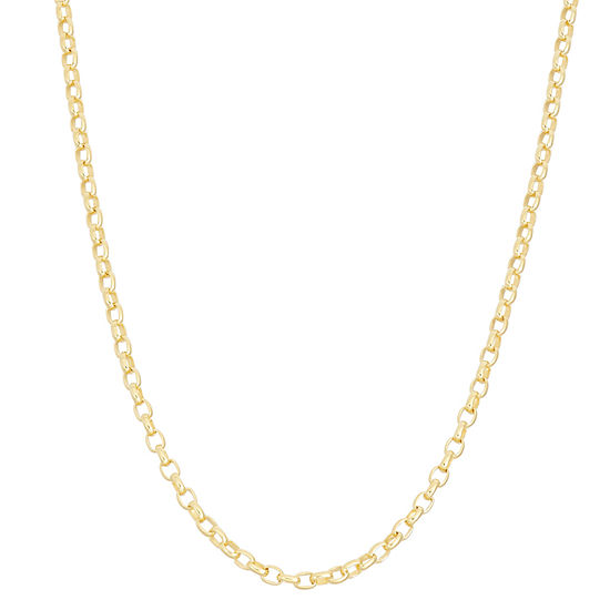 14K Gold Over Silver 22 Inch Semisolid Chain Necklace