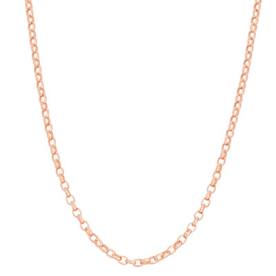 14K Gold Over Silver Semisolid 22 Inch Chain Necklace