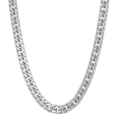 Sterling Silver 18 Inch Semisolid Curb Chain Necklace