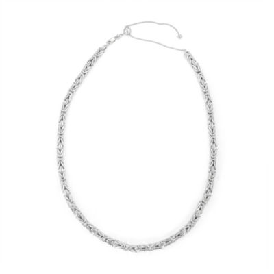 Sterling Silver 17 Inch Semisolid Snake Chain Necklace
