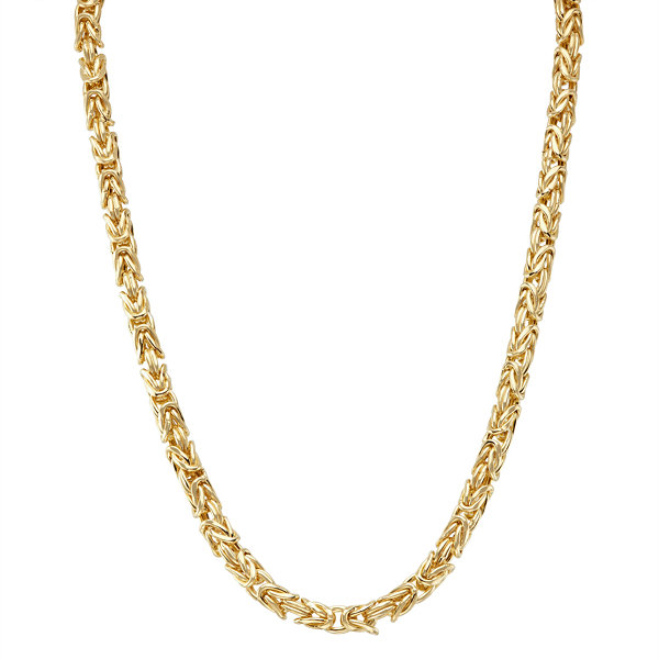 14K Gold Over Silver 17 Inch Chain Necklace