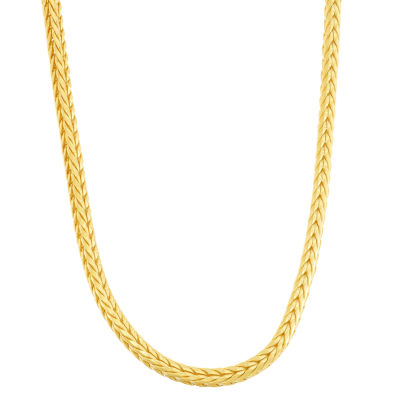 14K Gold Over Silver 18 Inch Semisolid Chain Necklace