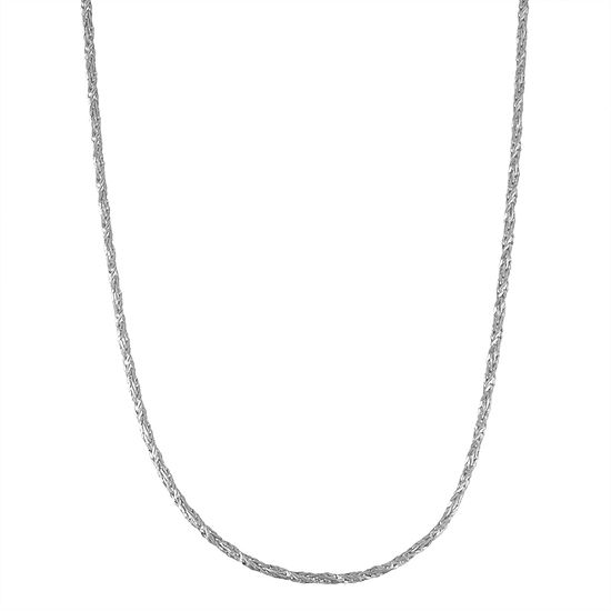 Sterling Silver 18 Inch Semisolid Chain Necklace