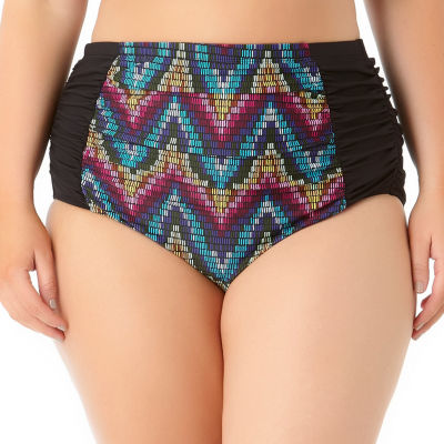 Allure By Img High Waist Swimsuit Bottom-Juniors Plus