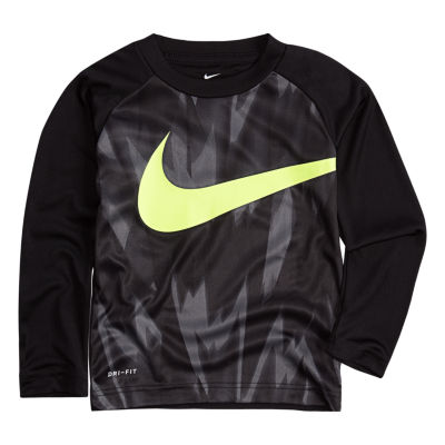 Nike Long Sleeve Crew Neck T-Shirt-Toddler Boys