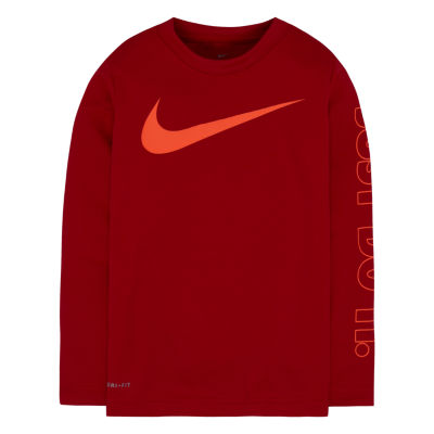 Nike Long Sleeve Crew Neck T-Shirt-Toddler Boys