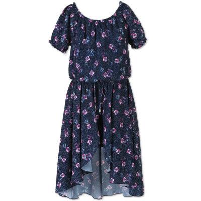 Speechless Short Sleeve Cap Sleeve A-Line Dress - Big Kid Girls