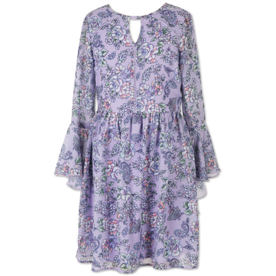 Speechless 3/4 Sleeve Bell Sleeve A-Line Dress - Big Kid Girls