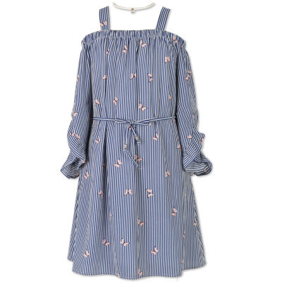 Speechless Long Sleeve Cold Shoulder Sleeve A-Line Dress - Big Kid Girls