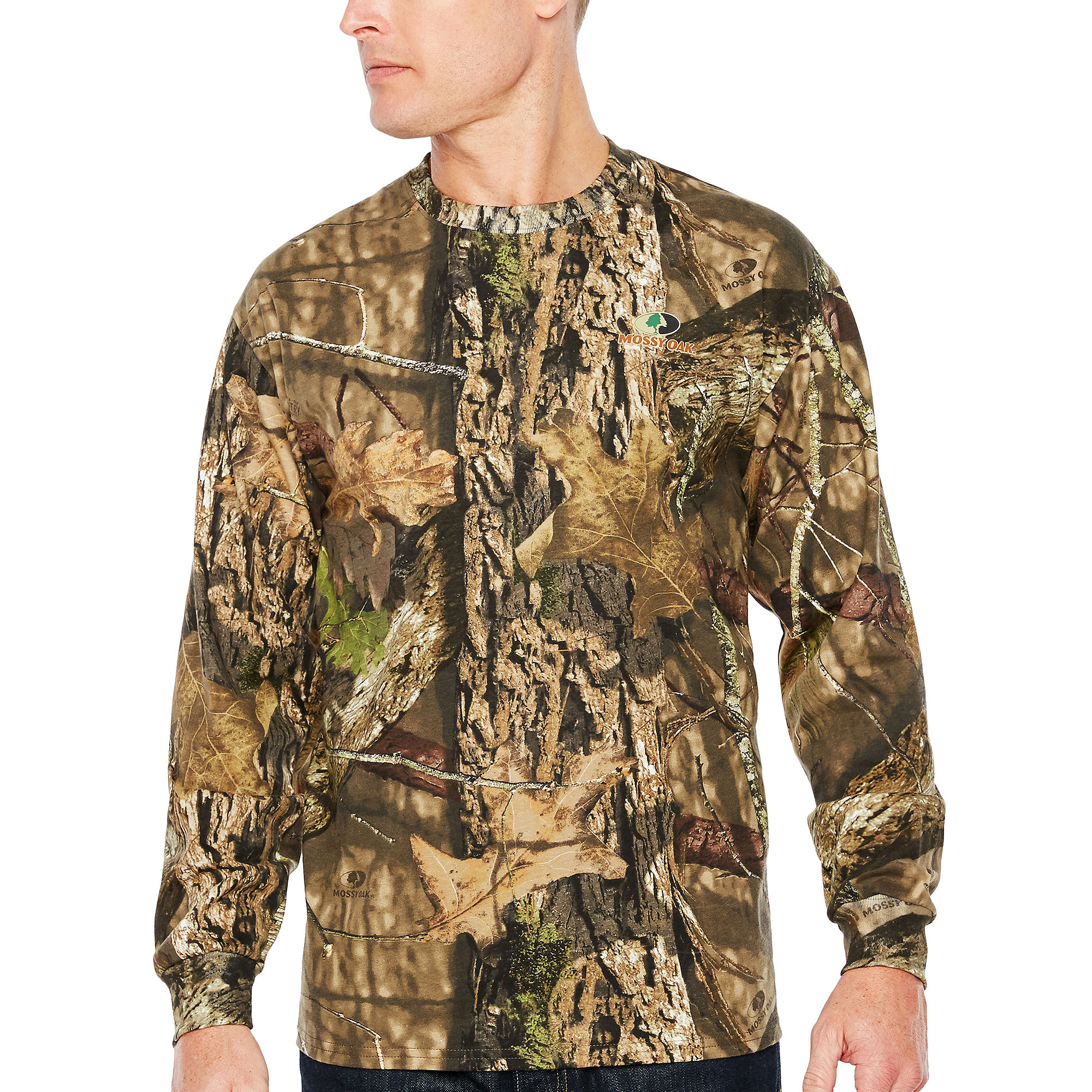 Upc 883096363620 mossy oak long sleeve crew neck t shirt for Gildan camouflage t shirts