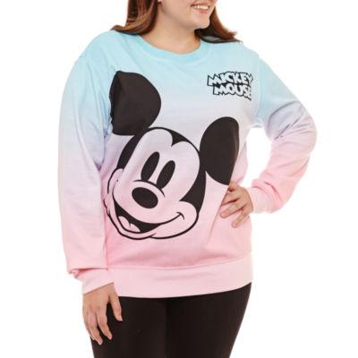 Mickey Mouse Sweatshirt-Juniors Plus