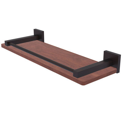 Allied Brass Montero Collection 16 IN Solid Ipe Ironwood Shelf With Gallery Rail