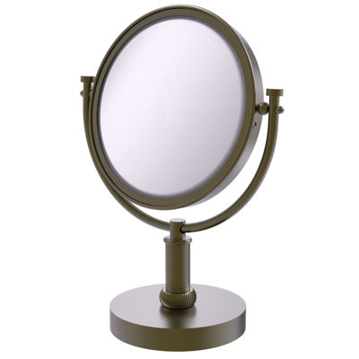 Allied Brass 8 Inch Vanity Top Make-Up Mirror 4X Magnification