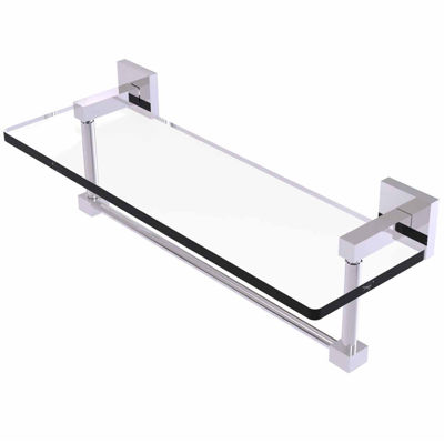 Allied Brass Montero Collection 16 IN Glass VanityShelf With Integrated Towel Bar