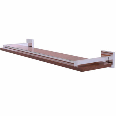 Allied Brass Montero Collection 22 IN Solid Ipe Ironwood Shelf With Gallery Rail