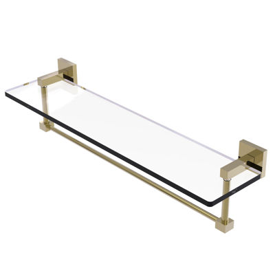 Allied Brass Montero Collection 22 IN Glass VanityShelf With Integrated Towel Bar