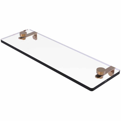 Allied Brass 16 IN Glass Vanity Shelf With BeveledEdges