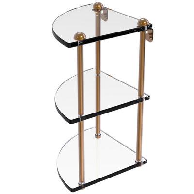 Allied Brass Three Tier Corner Glass Shelf