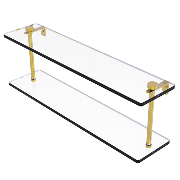Allied Brass 22 IN Two Tiered Glass Shelf