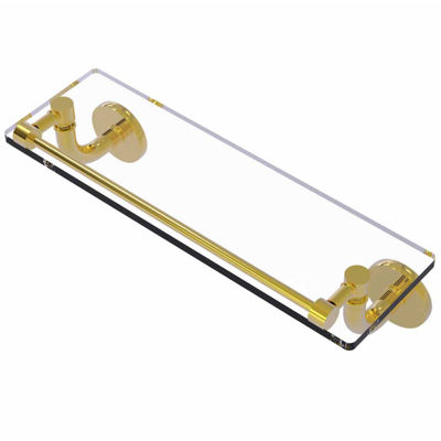 Allied Brass Remi Collection 16 IN Glass Vanity Shelf With Gallery Rail