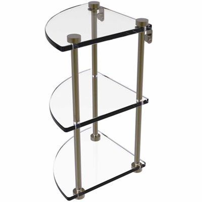 Allied Brass Three Tier Corner Glass Shelf