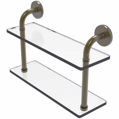 Allied Brass Remi Collection 16 IN Two Tiered Glass Shelf