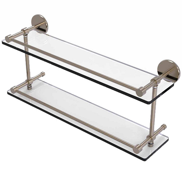 Allied Brass 22 IN Tempered Double Glass Shelf With Gallery Rail