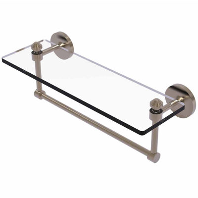 Allied Brass Southbeach Collection 16 IN  Glass Vanity Shelf  With Integrated Towel Bar