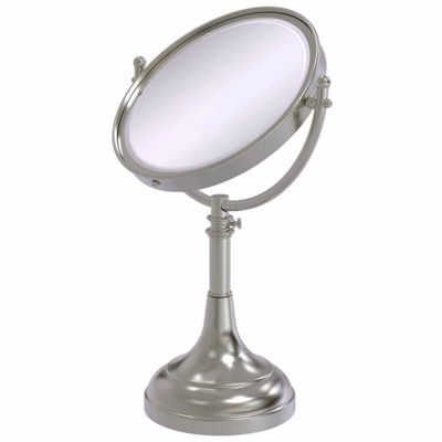 Allied Brass Height Adjustable 8 Inch Vanity Top Make-Up Mirror 5X Magnification