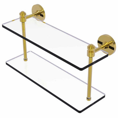 Allied Brass Southbeach Collection 16 IN Two Tiered Glass Shelf