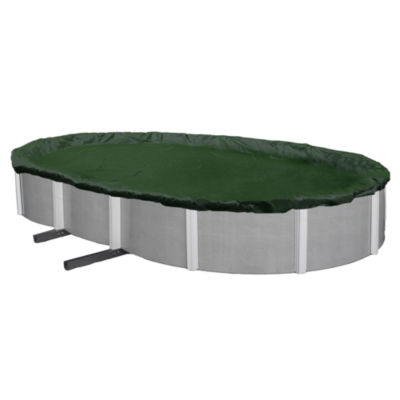 Silver 12-Year Oval Above Ground Pool Winter Cover