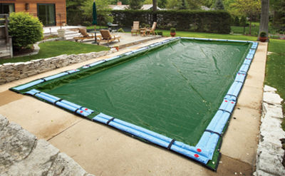 Silver 12-Year Rectangular In Ground Pool Winter Cover