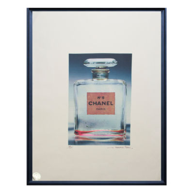 Fairchild Paris Clear Chanel No. 5 Clear Bottle Framed Wall Art