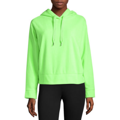 Xersion Brushed Fleece Crop Pullover Hoodie