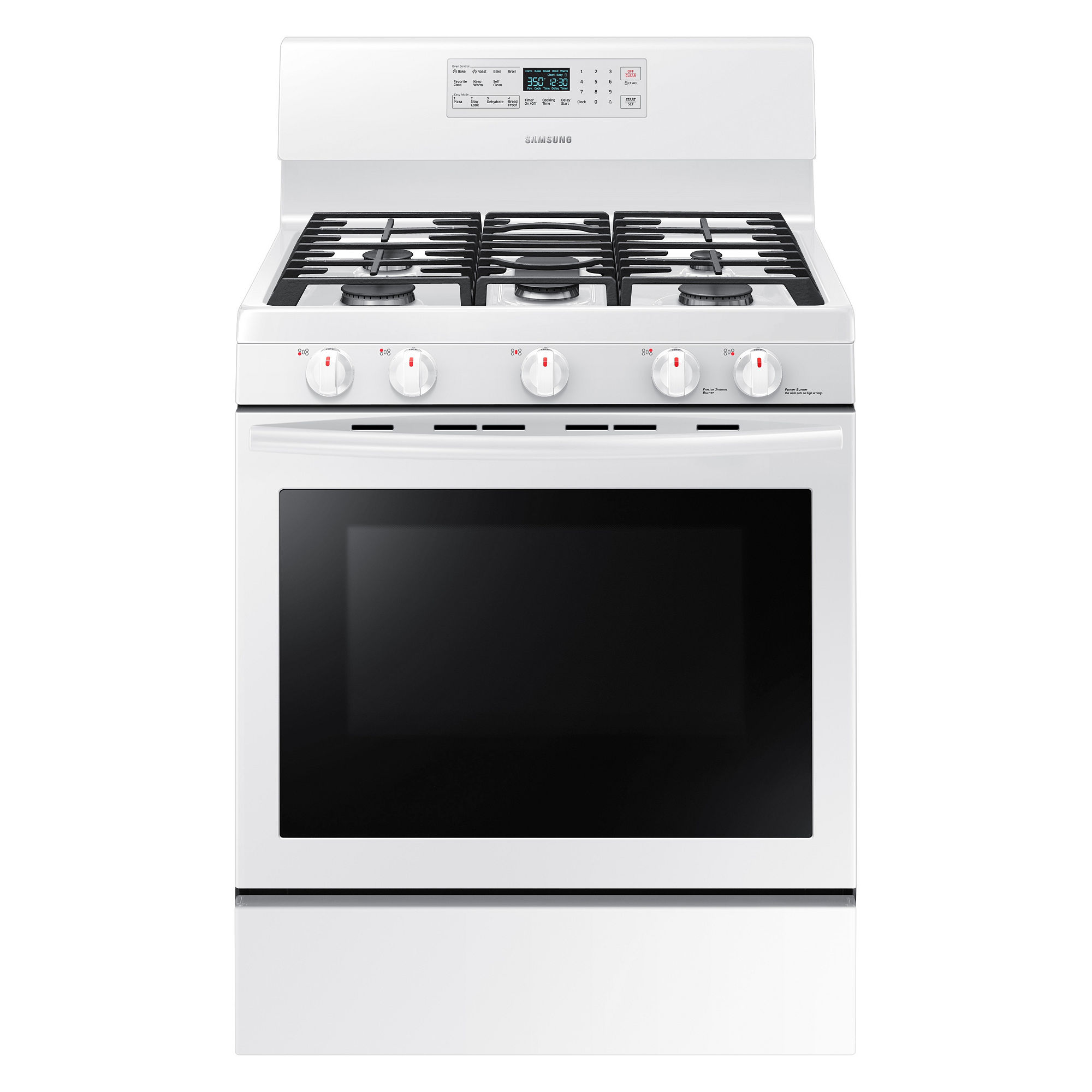 Samsung 5.8 cu. ft. Gas Range with Convection - NX58M5600SW/AA