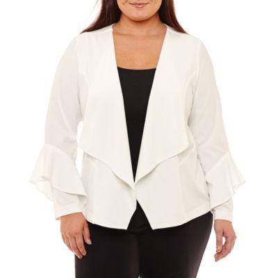 Boutique + Bell Sleeve Blazer-Plus