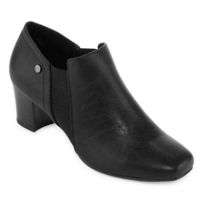 east 5th Womens Redmond Dress Block Heel Slip-on Boots