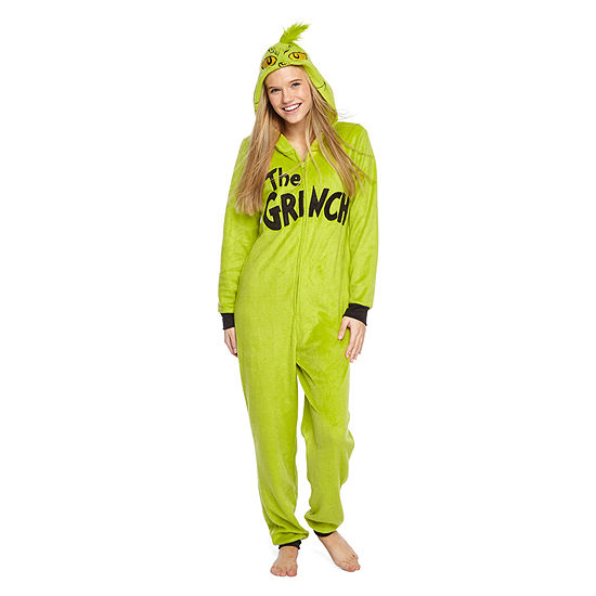 Womens Grinch Onesie Pajama - JCPenney 8828299fa